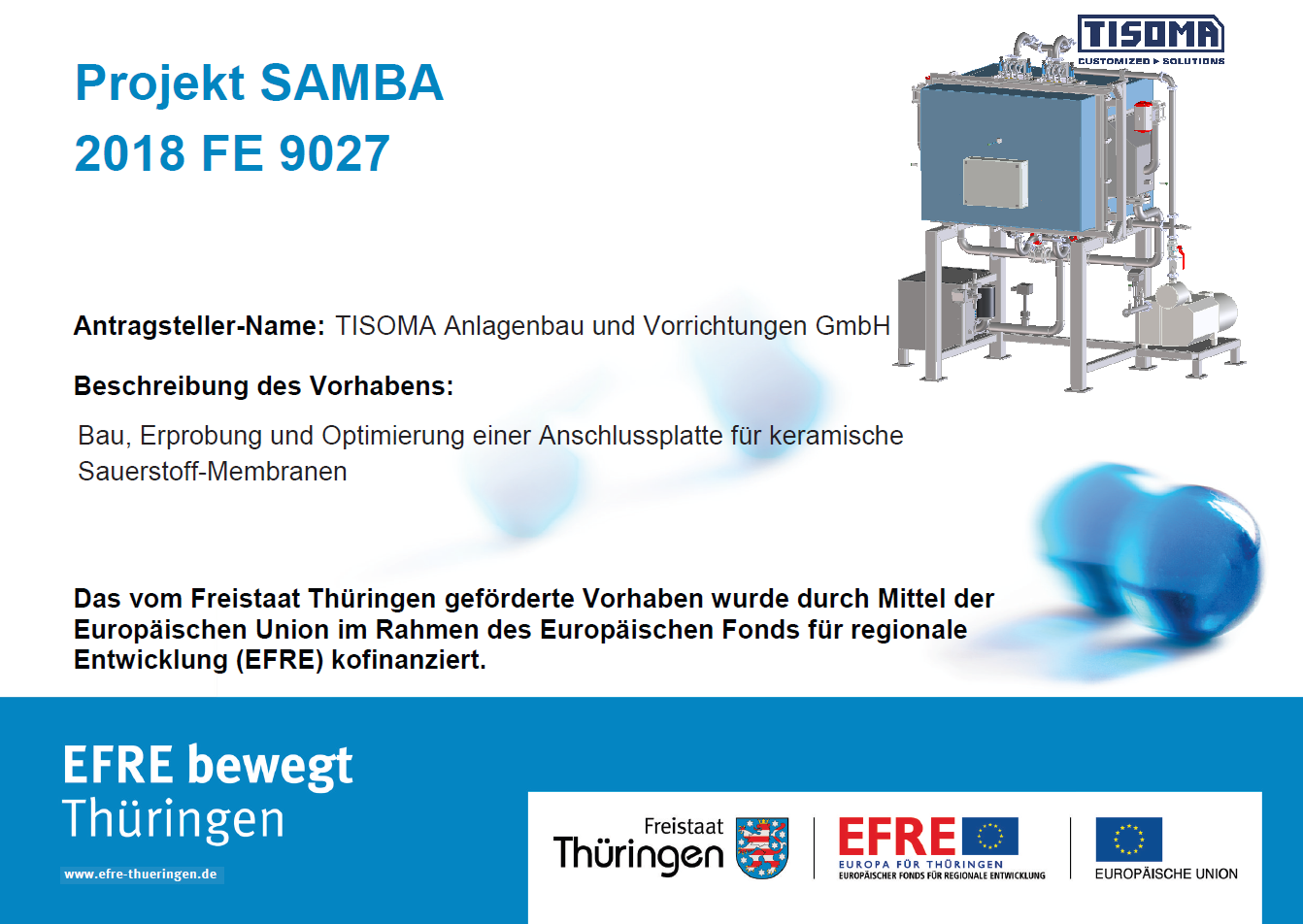 poster project SAMBA - 2018 FE 9027 _ EFRE
